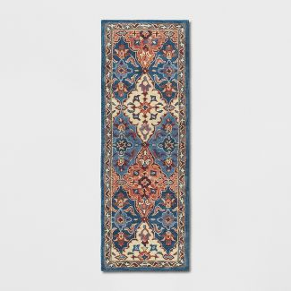 "2'4""X7' Tufted PersianAccent Rug Blue - Threshold™"