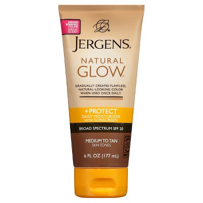 Body Lotions: Jergens Natural Glow + Protect Moisturizer