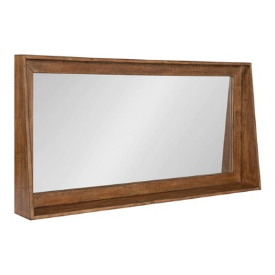 "36"" x 18"" Basking Wall Mirror with Shelf Brown - Kate and Laurel"