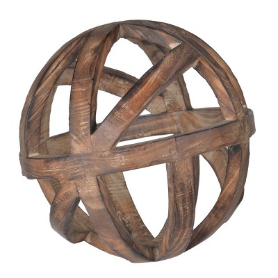 Decorative Wood Ball (10 )- A&B Home