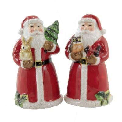 "Tabletop 4.0"" Santa Magic Xmas Salt Pepper Shaker Sets Owl Rabbit Certified International  -  Salt And Pepper Shaker Sets"