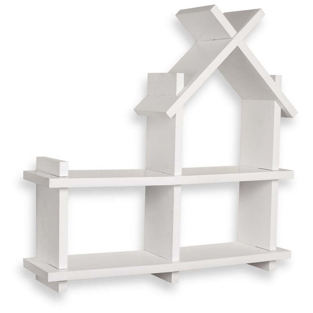 Image of Danya B House Design Wall Shelf - White