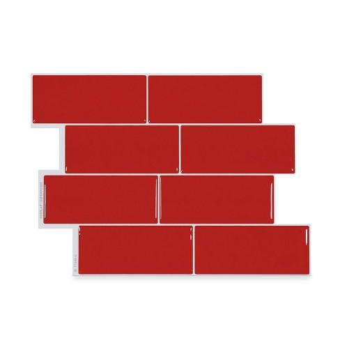 Smart Tiles Metro Tile Wallpaper Red Target