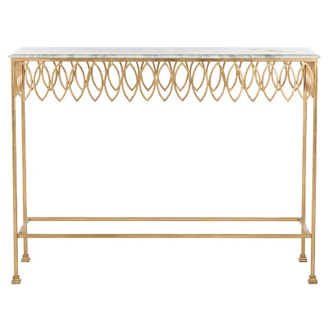 Console Table Gold White - Safavieh - image 1 of 5