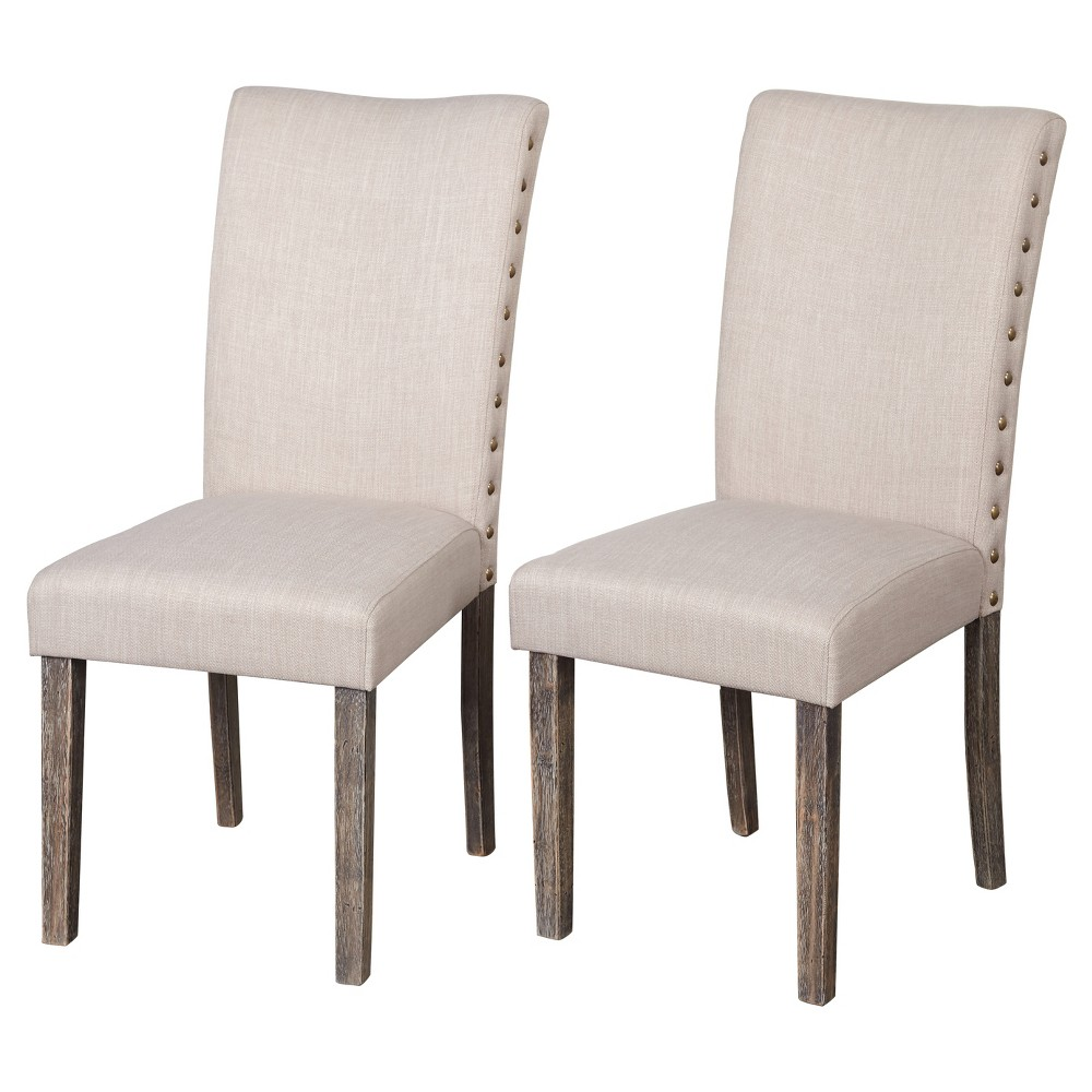 Burtwood Dining Chair (Set Of 2) - Weathered Gray - Target Marketing Systems, Light Gray