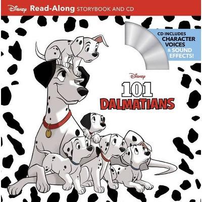101 Dalmatians Read-Along Storybook and CD - (Paperback)