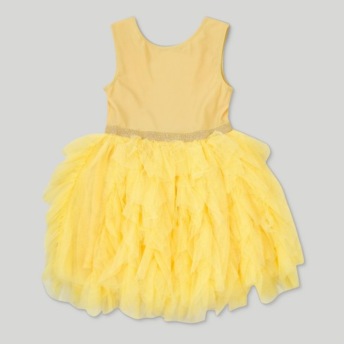 6fc3883744c Toddler Girls  Disney Beauty and the Beast Belle Sleeveless Tutu Dress -  Yellow
