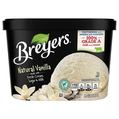 Breyers Original Ice Cream Natural Vanilla - 48oz