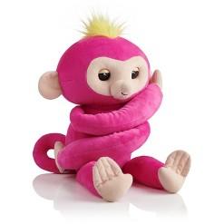 Fingerlings HUGS - Bella - Friendly Interactive Plush Monkey - Pink