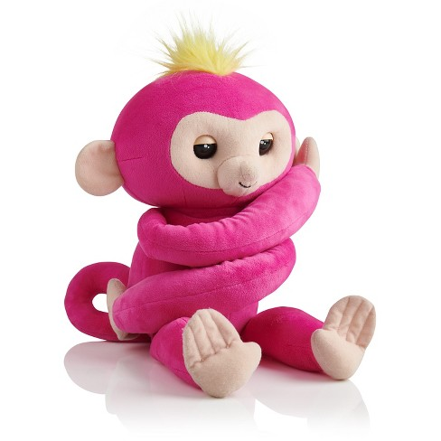 Fingerlings Hugs Bella Friendly Interactive Plush Monkey Pink