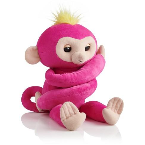 Fingerlings Hugs Bella Friendly Interactive Plush Monkey Pink