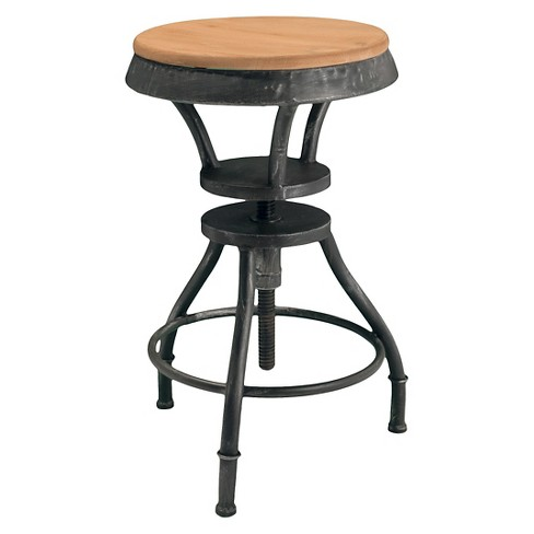 "Lucian Adjustable Wood Top 24"" Barstool Black - Christopher Knight Home - image 1 of 4"