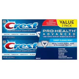 Crest PH Advanced Extra Deep Clean Mint Toothpaste Twin Pack - 5.1oz : Target