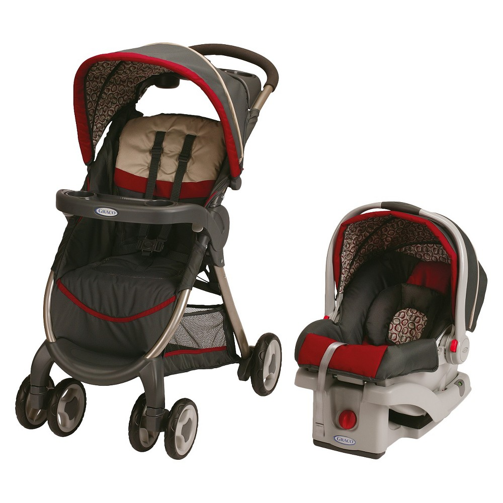 Graco FastAction Fold Click Connect Travel System, Finley