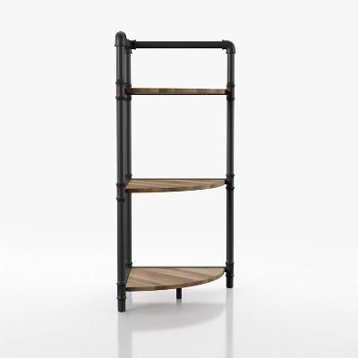 "36.63"" Beeme 3 Tier Corner Bookshelf Sand Black/Light Pure Copper - HOMES: Inside + Out"