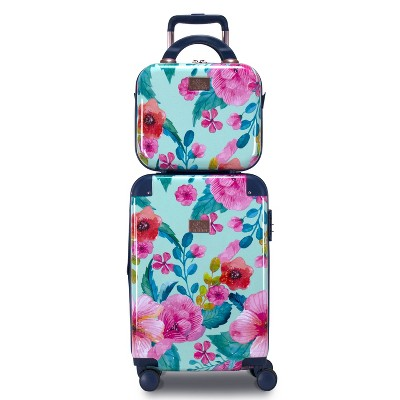 Chariot Travelware CHP-903 Floral 2pc Luggage Set
