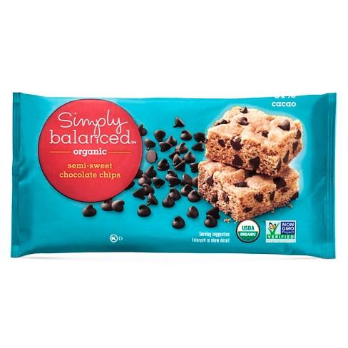Organic Semi-Sweet Chocolate Baking Chips - 10oz - Simply Balanced™ - image 1 of 1