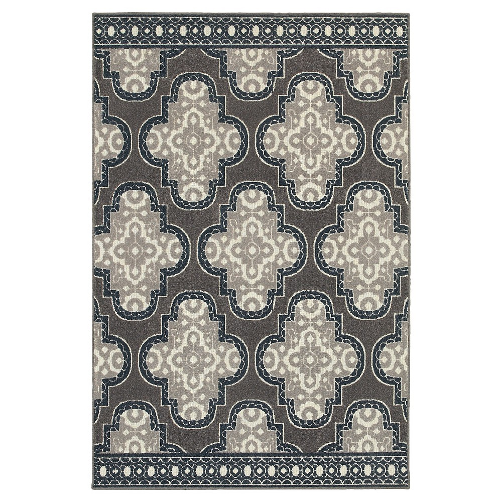 Image of 10'X13' Shapes Area Rug Gray