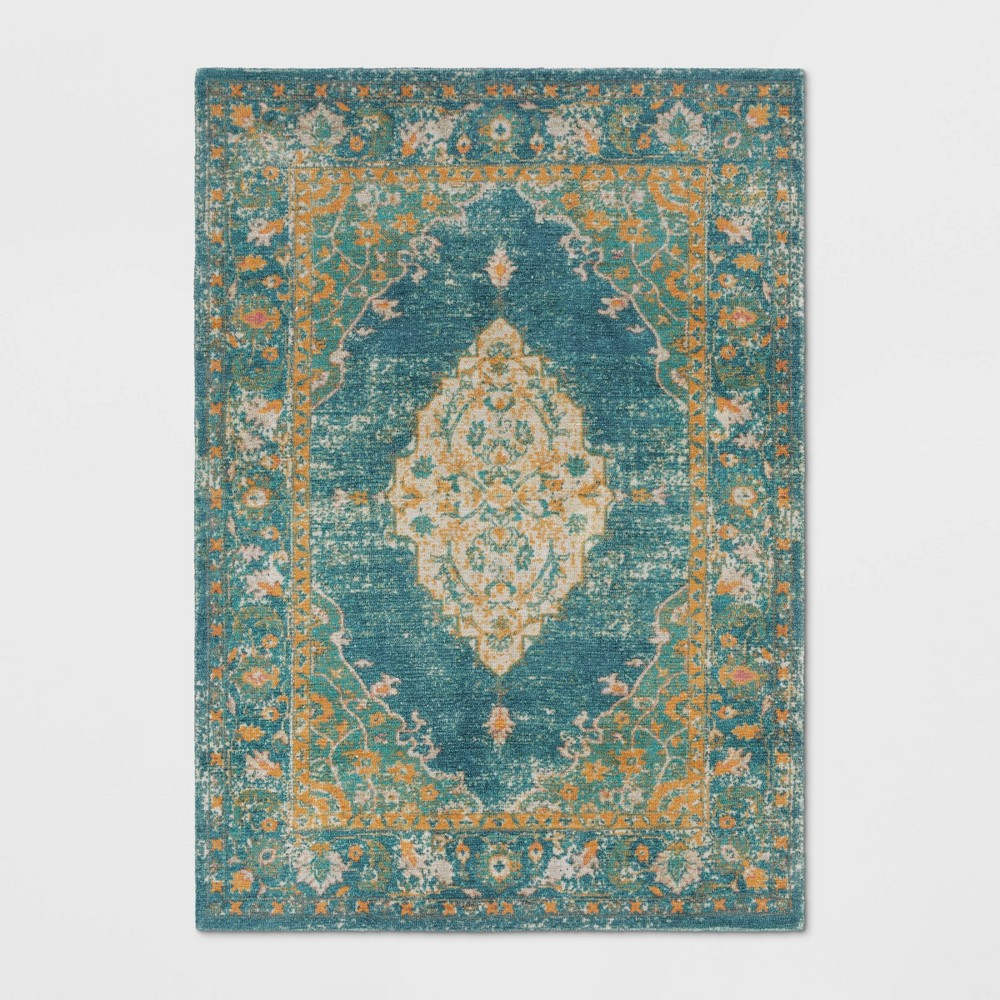 5x7 Paisley Tufted Area Rug Green - Threshold Coupons