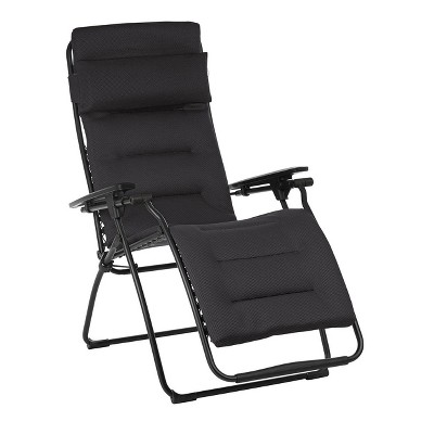 Lafuma Futura Air Comfort Zero Gravity Indoor Outdoor Recliner Chair Acier