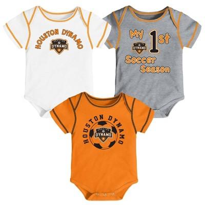 MLS Houston Dynamo Baby 3pk Bodysuit Set