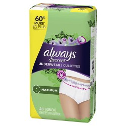 Always Discreet Maximum Absorbency Large Incontinence Underwear