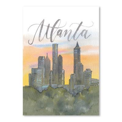 Americanflat Atlanta by Cami Monet Poster