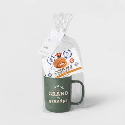 14oz Stoneware I Put The Grand In Grandpa Traveler Mug and Stroopwafel Green - Threshold™