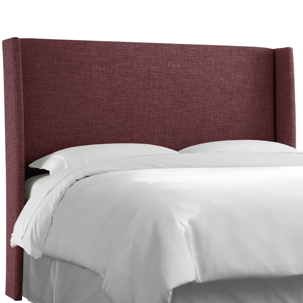California King Antwerp Wingback Headboard Wine Linen - Project 62