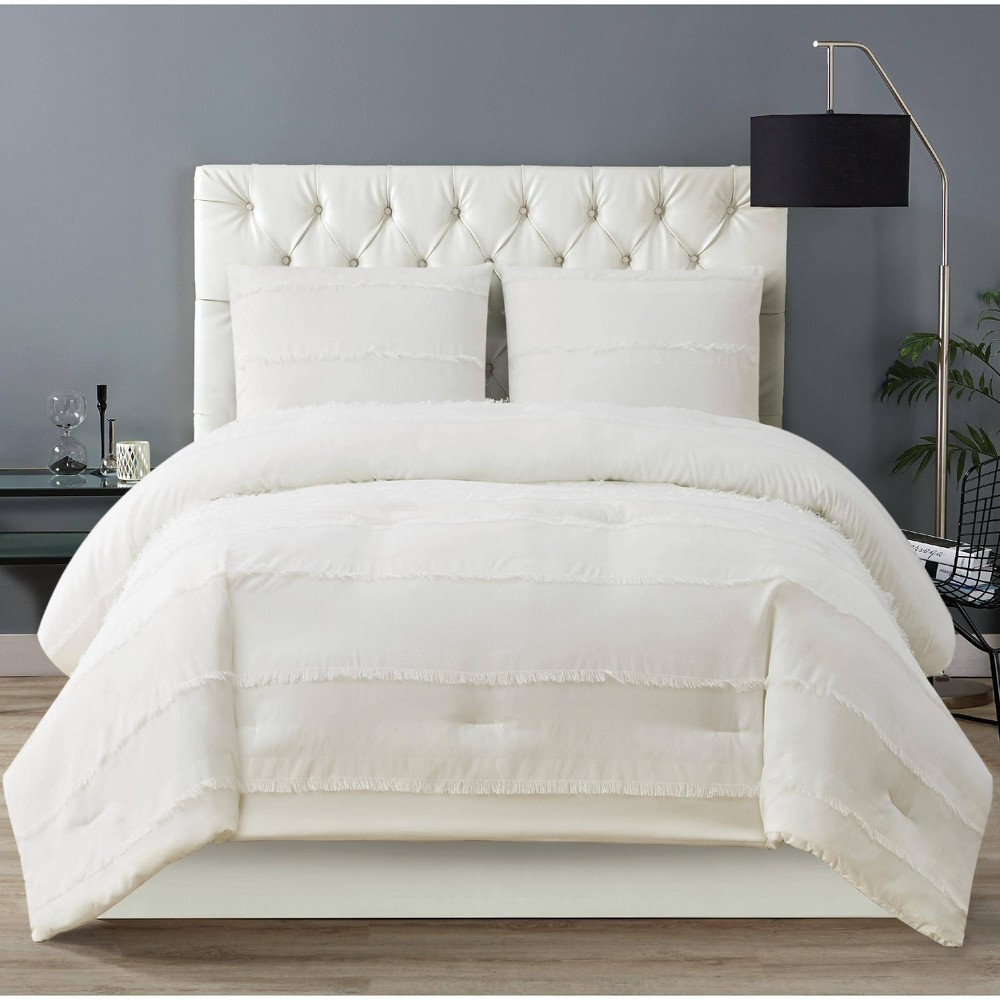 Christian Siriano Twin Xl 2pc Kristen Comforter Set White