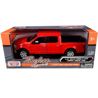 2019 Ford F-150 Lariat Crew Cab Pickup Truck Red 1/24-1/27 Diecast Model Car by Motormax