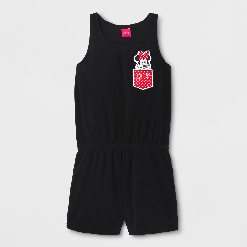 Girls' Disney Mickey Mouse & Friends Minnie Mouse Cover Up - Black M