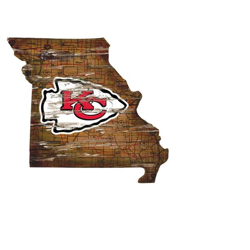 NFL Kansas City Chiefs Fan Creations State Shape Logo Sign on indianapolis map shape, wisconsin map shape, america map shape, georgia map shape, nevada map shape, new mexico map shape, idaho map shape, michigan map shape, louisiana map shape, oklahoma map shape, oregon map shape, montana map shape, boston map shape, massachusetts map shape, chicago map shape, mississippi map shape, wyoming map shape, seattle map shape, delaware map shape, missouri map shape,