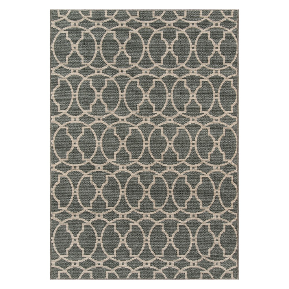 "Image of ""1'8""""X3'7"""" Geometric Loomed Accent Rug Gray - Momeni"""