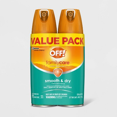 OFF! 4oz 2ct FamilyCare Insect Repellent Smooth & Dry