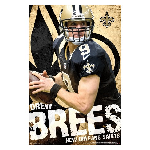 Hot New Orleans Saints Drew Brees Unframed Wall Poster : Target