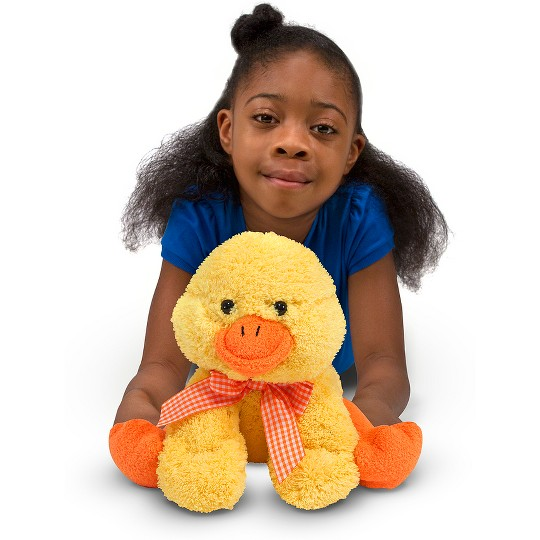 Melissa & Doug Meadow Medley Ducky Stuffed Animal With Quacking Sound Effect image number null