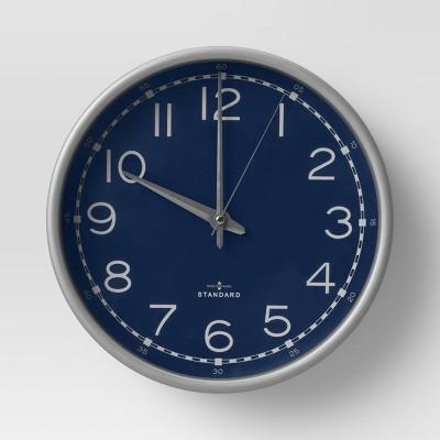 "10"" Wall Clock Navy - Threshold™"