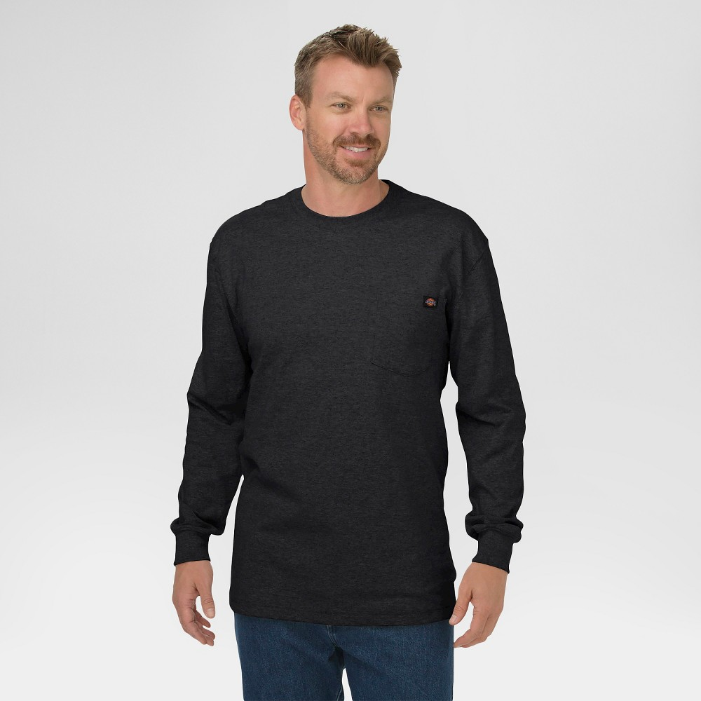 Dickies Men's Cotton Heavyweight Long Sleeve Pocket T-Shirt, Size: Large, Black