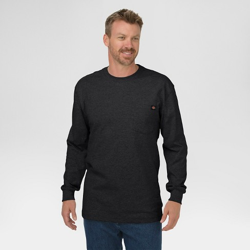 2e5859f55da613 Dickies® Men s Big   Tall Cotton Heavyweight Long Sleeve Pocket T-Shirt- Black  XL Tall   Target