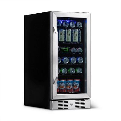NewAir 96 Can Beverage Cooler - Stainless Steel ABR-960