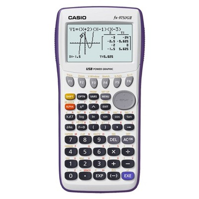 Casio fx-9750GII Graphing Calculator - White (FX9750GAPL)