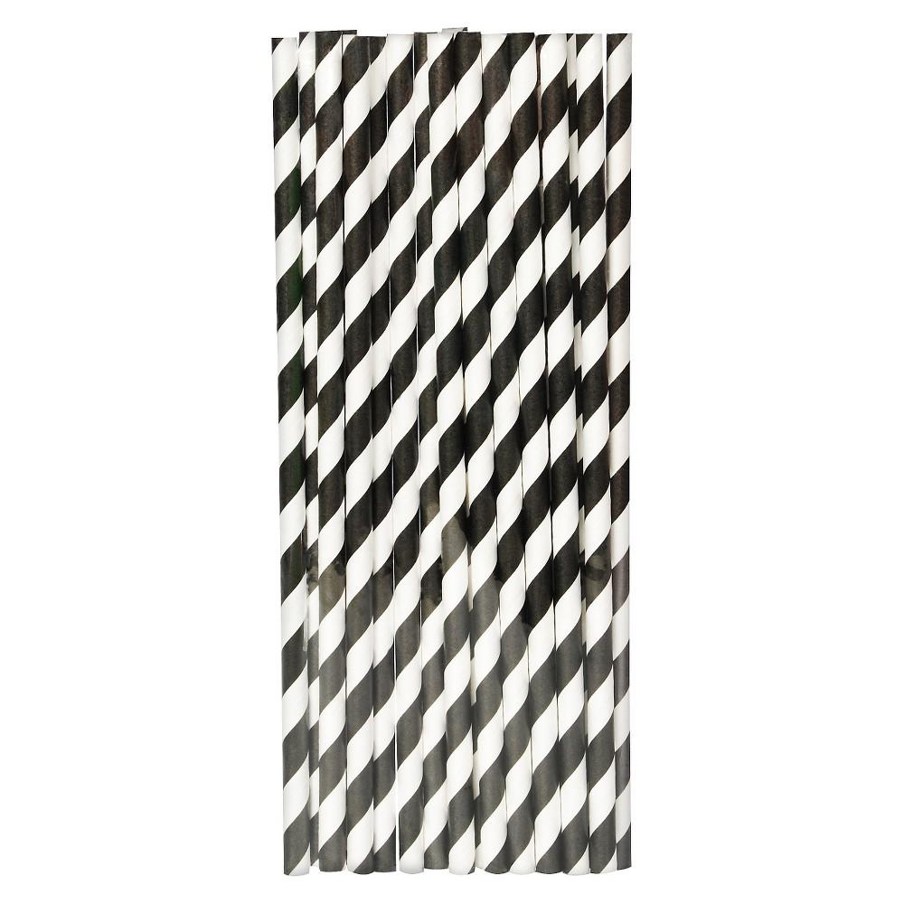 20ct Black Paper Straw - Spritz