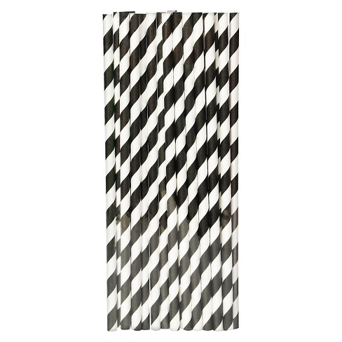 20ct Black Paper Straw - Spritz™ - image 1 of 2
