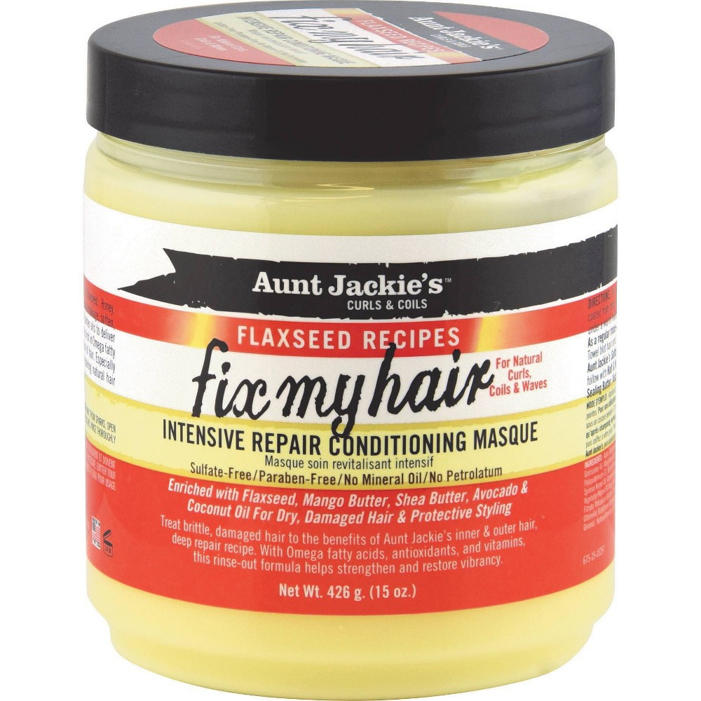 Image of Aunt Jackie's Fix My Hair Intensive Repair Conditioning Masque - 15oz