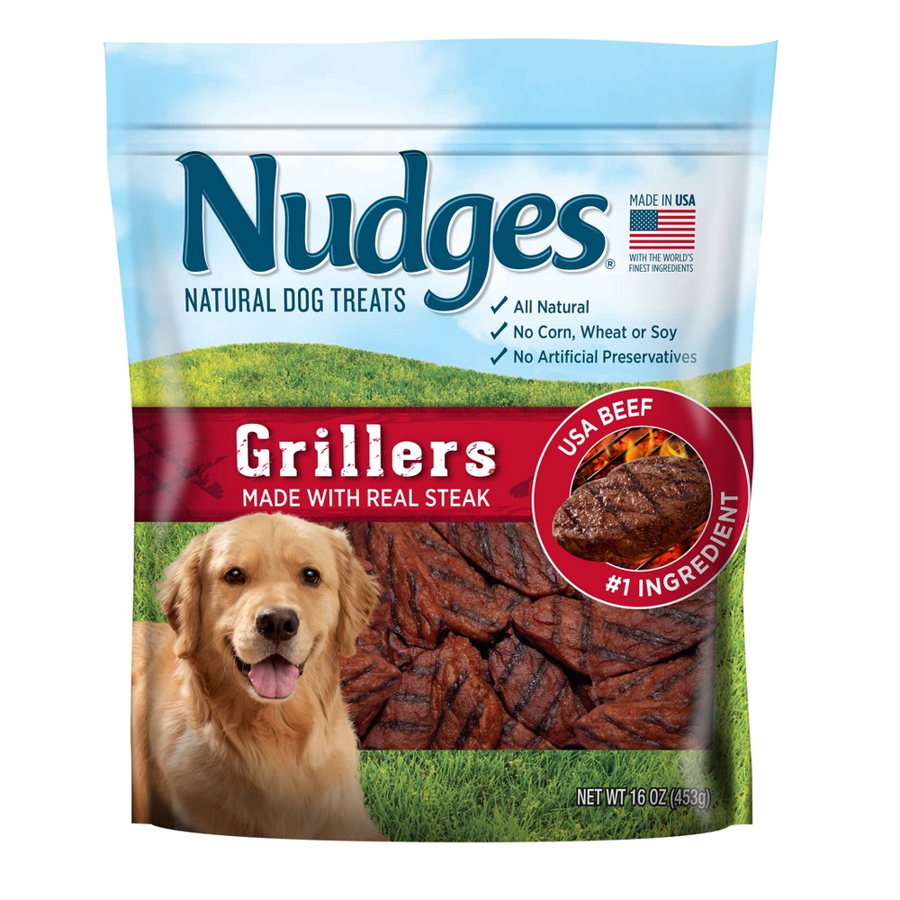 Nudges Grillers Steak Wholesome Dog Treats - 18oz