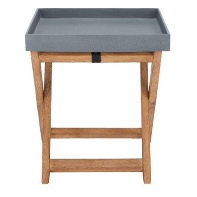 Jarden Side Table - Natural/Gray - Safavieh