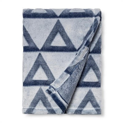 Embossed Baby Blanket Triangle - Cloud Island™ Blue