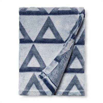 Embossed Baby Blanket Triangle - Cloud Island™ - Blue
