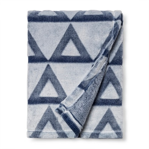 Embossed Baby Blanket Triangle - Cloud Island™ Blue - image 1 of 2